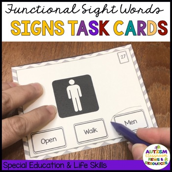 Functional Literacy Task Cards: Reading Comprehension of Environmental Signs