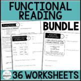 Functional Reading Worksheet bundle - Digital Learning