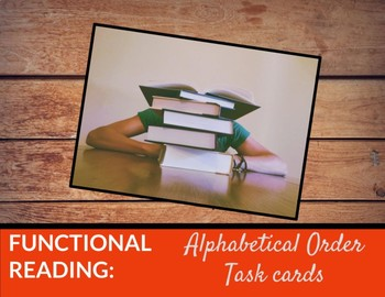 Functional Reading task cards: Alphabetic order