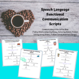 Middle & High School Speech Therapy Functional Scripts: Coffee Cart/Coffee Shop