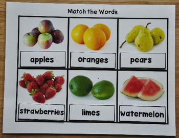 Functional Sight Words Matching Mats
