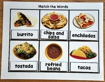 Functional Sight Words Matching Mats:  Restaurant Words
