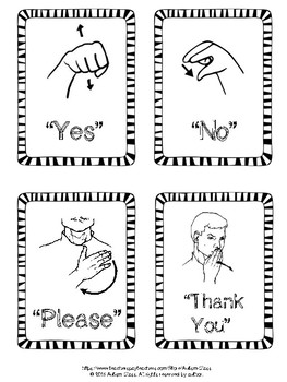 This is a photo of Breathtaking Sign Language Flash Cards Printable
