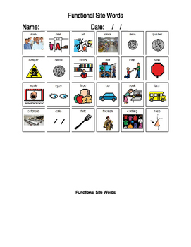 Functional Site Word Packet (autism)