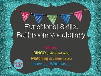 Functional Skills: Bathroom Vocabulary