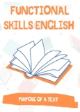 Functional Skills English - Different Purposes of a Text: 2X Reading Tasks