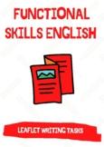 Functional Skills English / GCSE - Leaflet Writing: 3X Practice Leaflet Writing