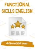 Functional Skills English / GCSE - Review Writing: 3X  Review Writing Tasks