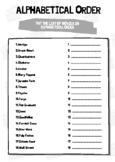 Functional Skills English Writing: Alphabetical Order Movies Worksheet & Answers