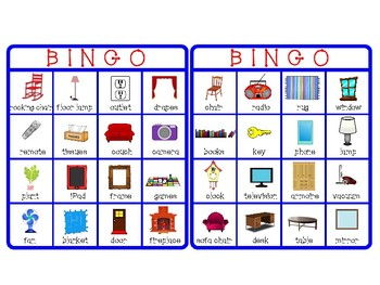 Functional Skills: Living Room Vocabulary Games