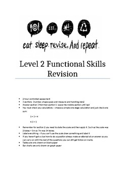 Functional Skills Maths Revision Guide with questions Level 2
