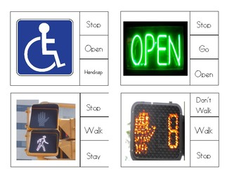 Functional Skills: Safety Signs Clip Charts