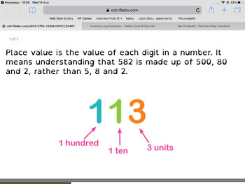 Functional Skills: place value.