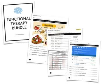 Functional Speech Therapy Materials Bundle