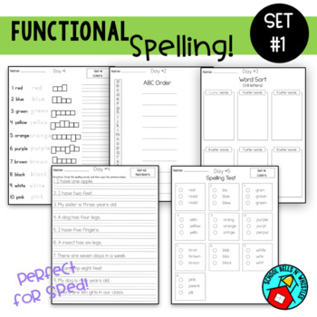 Functional Spelling / Special Education/ Resource