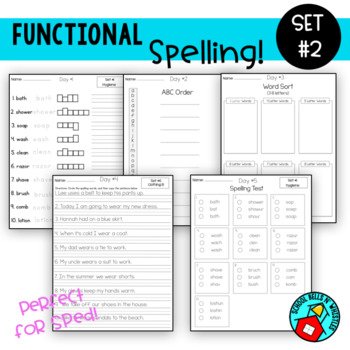 Functional Spelling  Set #2 / Special Education/ Resource