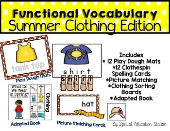 Functional Spelling: Summer CLOTHES