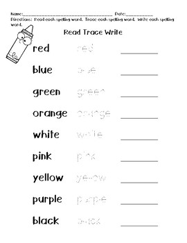 Functional Spelling Unit - Colors