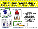 Functional Spelling: Winter and Fall CLOTHES