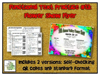 Functional Text #13: Flower Show Flyer