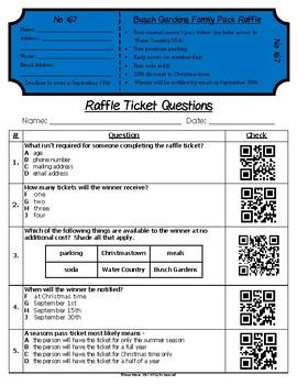 Functional Text #14:Raffle Ticket