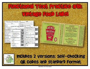 Functional Text #18: Vintage Food Label