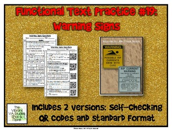 Functional Text #19: Warning Signs
