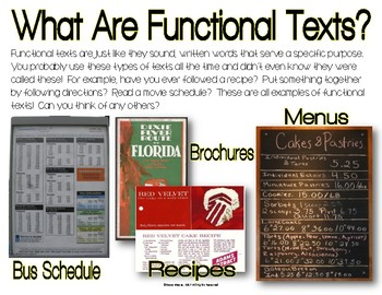 Functional Text #2: Gym Schedule