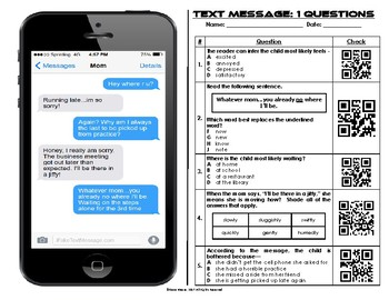 Functional Text #20: Text Messages