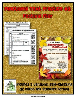 Functional Text #3: Festival Flyer