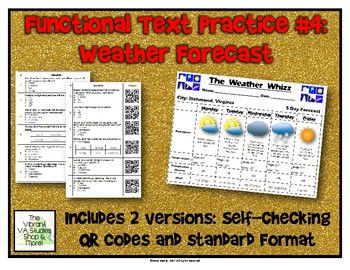 Functional Text #4: Weather Forecast