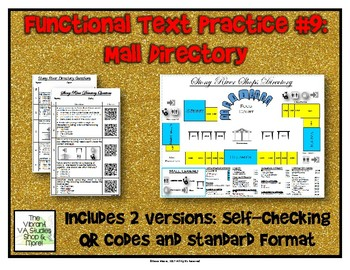 Functional Text #9: Mall Directory