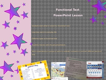 Functional Text Compare and Contrast PowerPoint