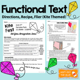 Functional Text Passages: Kite Themed Recipe, Flier, and D