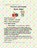 Functional Text Flyer: Parents and Family Movie Night