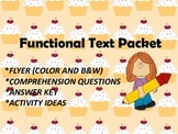 Functional Text Packet: Bake Sale Flyer