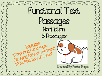 Functional Text Passages