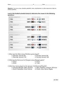 Functional Text Schedule Practice