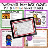 Functional Text Task Card Centers Bundle (Google Classroom & PDF)