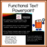 Functional Text preview or review powerpoint