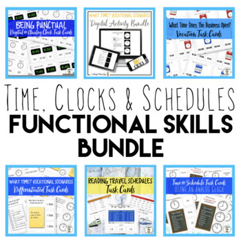 Functional Time, Clocks & Schedules Bundle