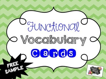 Functional Vocabulary Cards [FREE SAMPLE]