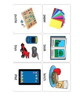 Functional Vocabulary Flash Cards for Autism ELL