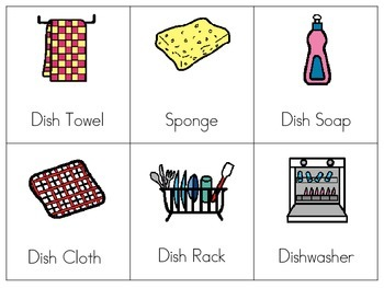 Functional Vocabulary Flashcard Cleaning Words