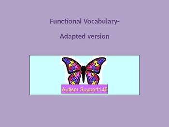 Functional Vocabulary Matching Activity-ADAPTED VERSION