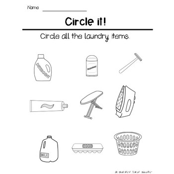 Functional Vocabulary and Matching: Laundry
