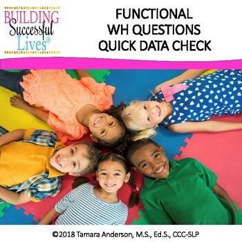 Functional WH Questions FREEBIE