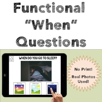 Functional When Questions - Time of Day - No Print