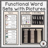 Functional Word Sets with Pictures Bundle