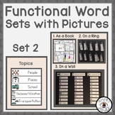 Functional Word Sets with Pictures Set 2